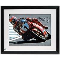 Exclusive Memorabilia Rahmen Carl Fogarty signierte Superbikes Foto: Cornering bei Marken Hatch