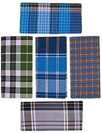 DHRONA Men's Cotton Lungies - Pack of 5 (Multicolour_Free Size)