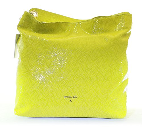BORSA HOBO IN PELLE PATRIZIA PEPE ACID GREEN ART 2V7777 A3FR-G434
