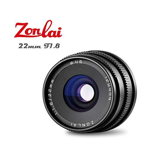Zonlai 22mm f1.8grande apertura, focus manuale, prime lente per fotocamera digitale canon eos-m mirrorless, eos m2m3m5m6m10m100nero