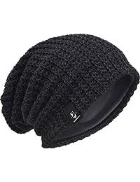 00b1e104668 Men Oversize Beanie Slouch Skull Knit Large Baggy Cap Ski Hat B08