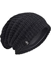 6432d083ea89 Men Oversize Beanie Slouch Skull Knit Large Baggy Cap Ski Hat B08