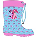 My Little Pony Girls Wellington Boots Rubber Wellies(26 - UK 8.5) Blue