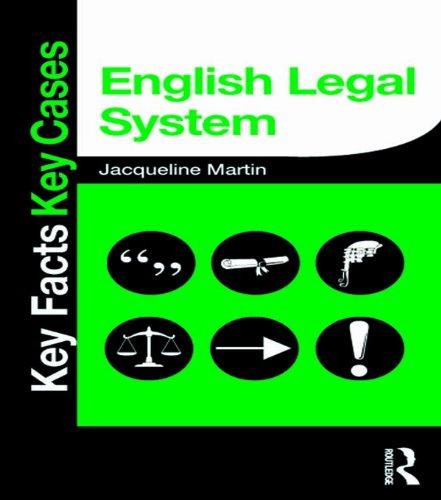 English Legal System (Key Facts Key Cases) por Jacqueline Martin