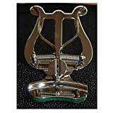Trompette Lyre pour trompette, bugle, Cornet?Soundman® Pince Bell fanfare Lyra Pupitre (plaqué nickel)