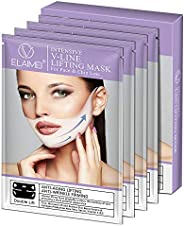 ELAIMEI V mask double chin reducer lifting and slimming masks, Chin up Contour Lifting Firming Moisturizing Mask All Night,S