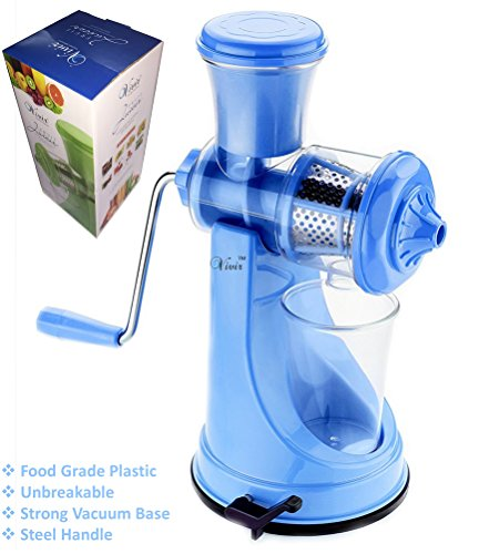 Vivir® Fruit And Vegetable Juicer With Steel Handle And Vacuum Base (random Colour)