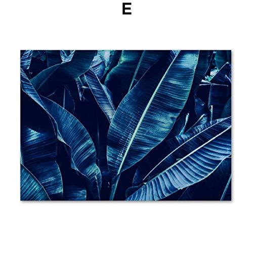 XWArtpic Mädchen Tauchen Blau Kristall Cave Bananenblatt Wandkunst Leinwand Malerei Nordic Poster Und Drucke Wandbilder Für Wohnzimmer Decor E 60 * 80 cm