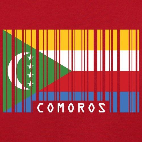 Comoros / Komoren Barcode Flagge - Herren T-Shirt - 13 Farben Rot