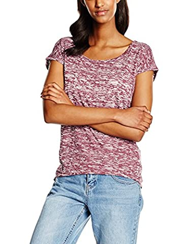 Urban Classics Ladies Burnout Tee, T-Shirt Femme, Rouge-Rot (Burgundy 606),