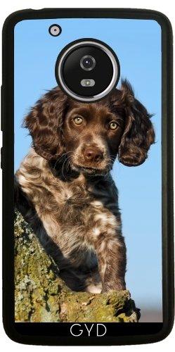 SilikonHülle für Moto G5 - Niedlich Deutsch Spaniel Hundewelpe by Katho Menden