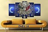 Gece Mavisi Osmanli Devlet Armali tugra Kanvas Tablo 75*130 cm
