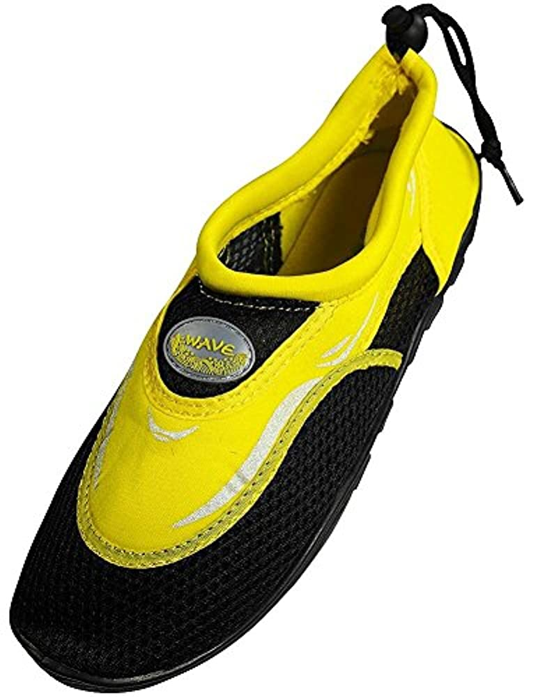 The Wave Herren Wasserschuhe, (Black/Yellow S1182m), 41 EU M