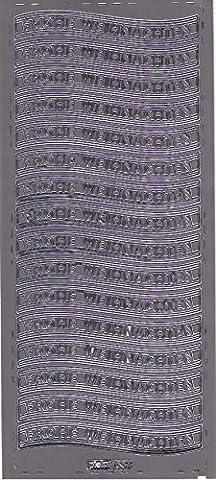 'Pickup® contours Peel Off Stickers pour 537Argenté,