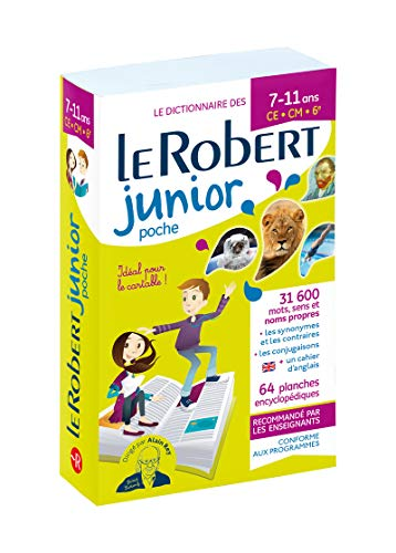 Dictionnaire Le Robert Junior Poche - 7/11 ans - CE-CM-6e