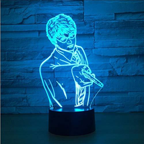 Lkfqjd Kreative Usb 7 Farben Ändern 3D Vision Männlichen Lehrer Modellierung Schreibtischlampe Led Klassenzimmer Atmosphäre Dekor Baby Schlaf Nachtlicht