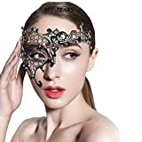 SKY TEARS Maschera Veneziana Donna Metallo Maschera Stile Fancy Sexy Veneziana per Masquerade Costume Party, Halloween Carnevale