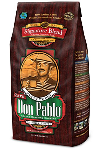 2lb-cafe-don-pablo-gourmet-coffee-signature-blend-medium-dark-roast-coffee-whole-bean-coffee-2-pound