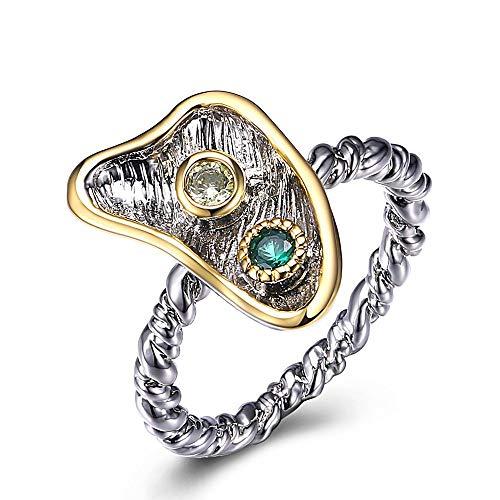 CCWANRZ NewSuper Cute Fashion Ringe für Frauen Twisted Band Green Olivine Zircon, 9Rings von Jewelry & Accessories