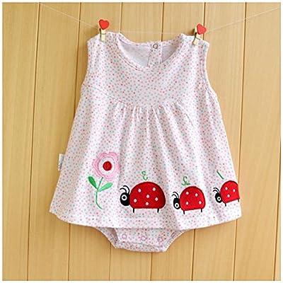 Amur Leopard Pijamas de Bebé Niñas 100% Algotón Ropa de Bebé Niñas para Dorimir Transpirable Fresco con Dibujo Adorable