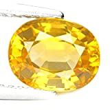 #4: Yellow sapphire 9.25 Carat Top Quality Pukhraj Certified Natural Rashi Ratan Gemstone For Astrological Purpose By Akshay Gems
