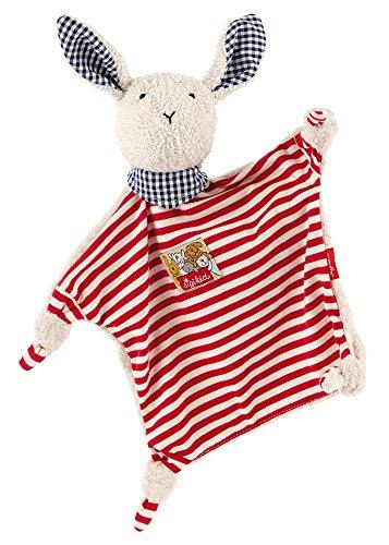 sigikid, Mädchen und Jungen, Schnuffeltuch Hase, Rot/Weiß, 45570