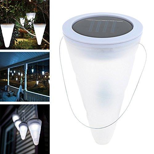 Lixada LED Solarleuchte Hängend 3er Set Solar Hängeleuchte Kegelförmige Garten Solarlampe Deko für Party Garten Pathway