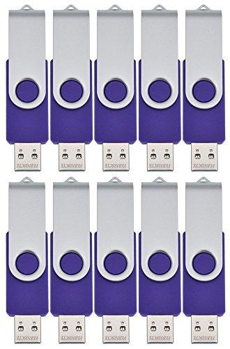 FEBNISCTE 10 Chiavette USB 256MB (Non 256GB)Girevole Pen Drive Viola