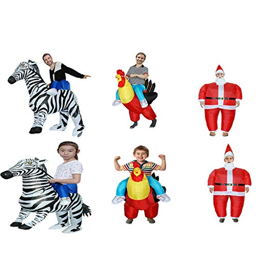 BWNWPH Alien Inflatable Suit Lustige Requisiten Halloween Party Parenting Kostüm Weihnachten Funny Party Halloween Zebra, Big Cock, Santa Claus Inflatable (Color : Santa Claus, Size : Adult) (Big Alien Kostüm)