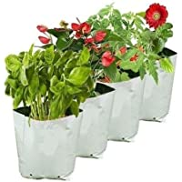 ballatha 550 GSM, Grow Bag for Plants Big Size Terrace Gardening (10 Bags) - Grow Vegetables, Fruits, Onion & Other…