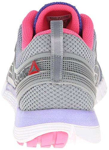 Reebok Zquick 2.0 scarpa da running Flat Grey/Ultima Purple/Solar Pink/White