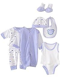 4dd67c2c2 Per 8 piezas Conjuntos de ropa para bebé Canastilla de algodón Traje de bebé  Regalo para