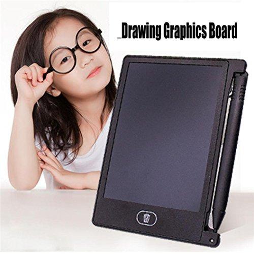 SUccess Lavagna di progettazione della lavagna del grafico del taccuino di 4.4 pollici LCD EWriter. Giocattoli educativi Le persone sordomute sono comode da usare (nero, 116*86*45MM)