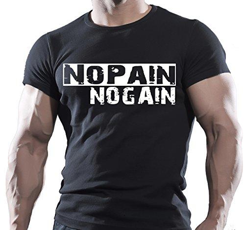 Gimnasio Negro Hombres de algodón T-Shirt–Artes Marciales Mixtas–Bodybuilding entrenamiento extrema WWE UFC...