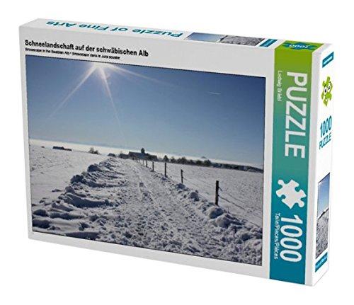 Preisvergleich Produktbild Schneelandschaft auf der schwäbischen Alb 1000 Teile Puzzle quer (CALVENDO Natur)