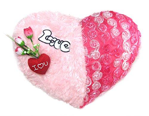Tickles Pink I Love You Heart Cushion Stuffed Soft Plush Toy 41 cm