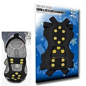 Small – Tracción para el hielo universal ¡Puas para el hielo y la nieve de quitaipón ajustables (grapas, crampones, púas) 10 pernos- Pequeño by DELIAWINTERFEL