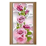 #5: vanpower 5D DIY Diamond Painting Rose Flower Embroidery Diamonds Wall Stickers Decor
