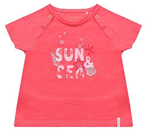 ESPRIT Baby-Mädchen T-Shirt RL1009102, Orange (Coral 323), 68 (Bekleidung Baby Coral)