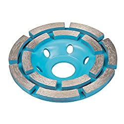 Silverline 656592 Concrete Grinding Diamond Disc Double Row, 100 x 22.2 mm