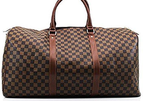 Gossip Girl Große Handtasche inspiriert von einem Designer, für Wochenendtrips oder Fitnessstudio, Handgepäcksgröße, braun (Bag Messenger Gucci)