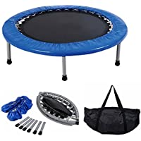 "Costway Mini Trampoline Set 38"" Foldable Fitness Exercise Bouncer Sports W/ Carry Bag"