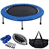 "COSTWAY Mini Trampoline Set, 38"" Foldable Fitness Exercise Bouncer Sports W/Carry Bag"