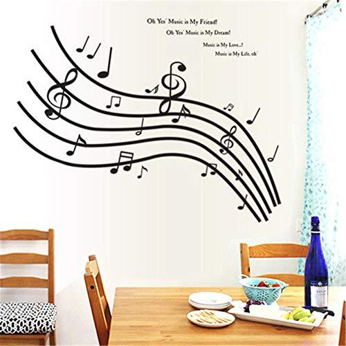 (Wandaufkleber Spiegel Musical Notes Wandaufkleber Tanz Im Wind Musik Notation Wandaufkleber Ausgangsdekor Musik Shop Klassenzimmer Diy Abziehbilder)