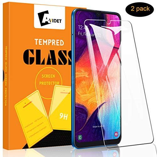 A-VIDET Panzerglas Schutzfolie für Samsung Galaxy A50,9H Härte Super Langlebig, Anti-Öl,Panzerglasfolie Bildschirmschutz Bildschirmschutzfolie für Samsung Galaxy A50 (Transparent)