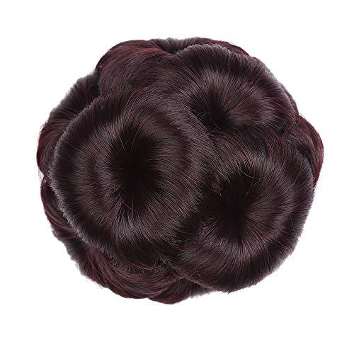 Hair Bun Extensions Lockiges Haar Chignons Haar Blume Form Haarteil Haarteil Haarband Pferdeschwanz Extensions,1 -