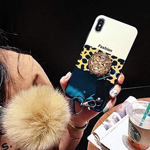 Preisvergleich Produktbild Aulzaju Schutzhülle für iPhone mit Leopardenmuster,  mit Standfunktion,  aus TPU,  für iPhone iPhone Xs Max 6.5 Inch Gradient