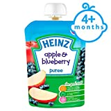 Fruit Pouch Apple And Blueberry 100G-Heinz