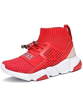 Ashion Zapatillas Unisex Niños Running Niños Sneakers Running Calzado de Fitness Zapatos de Entrenamiento para...