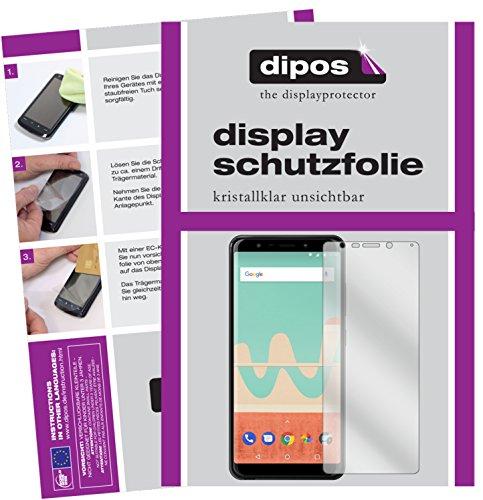 dipos I 2X Schutzfolie klar passend für Wiko View Go Folie Bildschirmschutzfolie